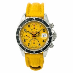 Tudor Tiger Prince Date 79270 Men's Automatic Watch Yellow Dial SS