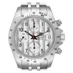 Tudor Tiger Woods Chronograph Silver Dial Steel Men's Watch 79280 Box Papers