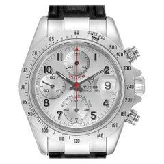 Tudor Tiger Woods Chronograph Silver Dial Steel Men's Watch 79280