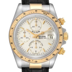 Tudor Tiger Woods Steel Yellow Gold Mens Watch 79263 Box Papers