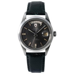 Tudor Vintage Prince Date-Day 7017/0 Men's Automatic Grey Dial Watch Steel