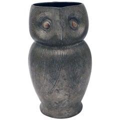 Tudric Pewter Owl Jug