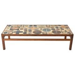 Tue Poulsen Ceramic Rosewood Coffee Table