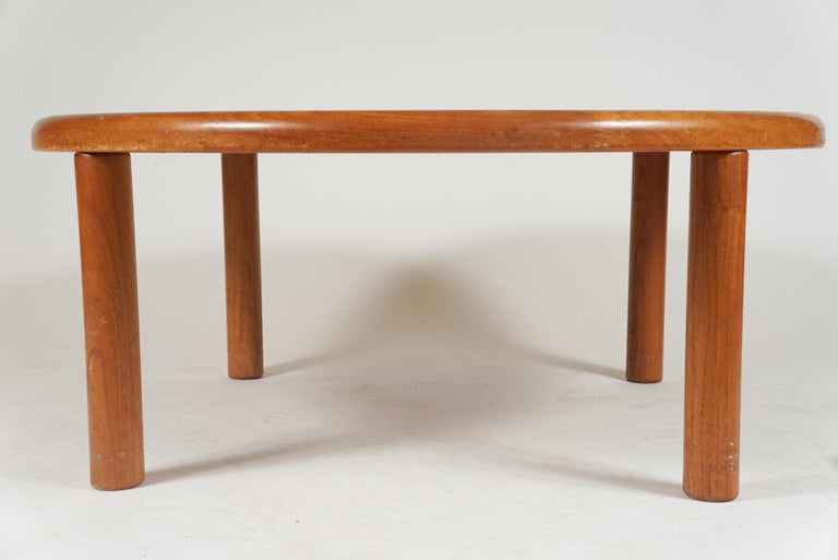 20th Century Tue Poulsen Designed Ceramic Tile & Teak Coffee / Center Table by Haslev, Hygge For Sale