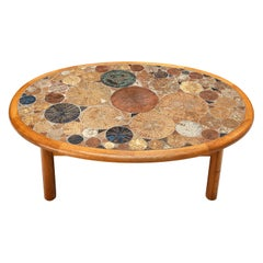 Tue Poulsen for Haslev Møbelsnedkeri Coffee Table with Ceramics