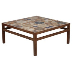 Tue Poulsen Square Coffee Table of Wenge and Tiles by Heltborg Møbler, 1970´s