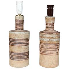 Tue Poulsen Stoneware Pair of Tablelamps