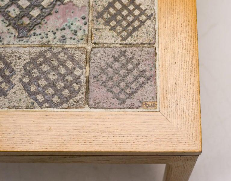 Ceramic Tue Poulsen Tile Coffee Table  For Sale