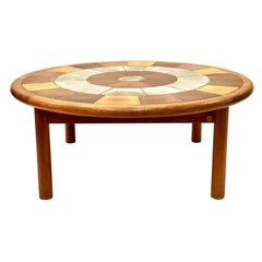 Tue Poulsen Tile Top Danish Coffee Table by Haslev