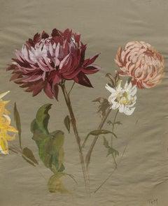 Tüema Pattie, Early Chrysanthemums, Poster Colour