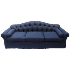 Tufted Camelback Baker Sofa
