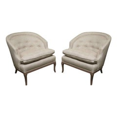 Tufted Chit Chat  Armchairs in Linen Colors