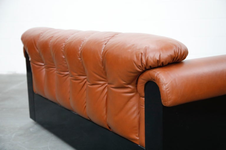 Cognac Leather 'Bounty' Loveseat by L. Davanzati for The Pace Collection, 1980s  For Sale 11