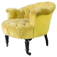 Tufted French 19th Century Armchair