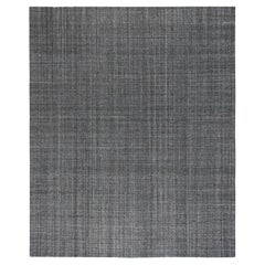 Tufted Grey Area Rug with Turquoise and Gold