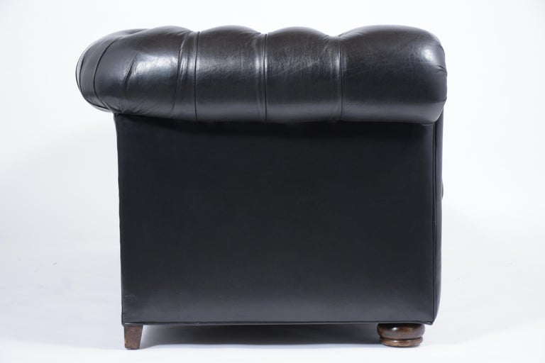 Tufted Leather Chesterfield Sofa For Sale 6