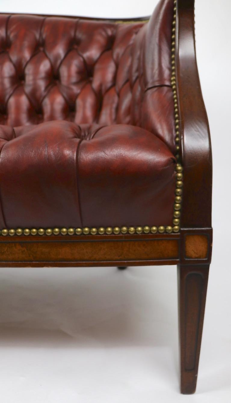Tufted Leather Sofa Made By Hickory Chair Company Retailed