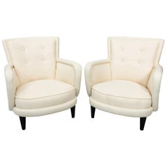 Tufted Mid-Century Modern Club Chairs