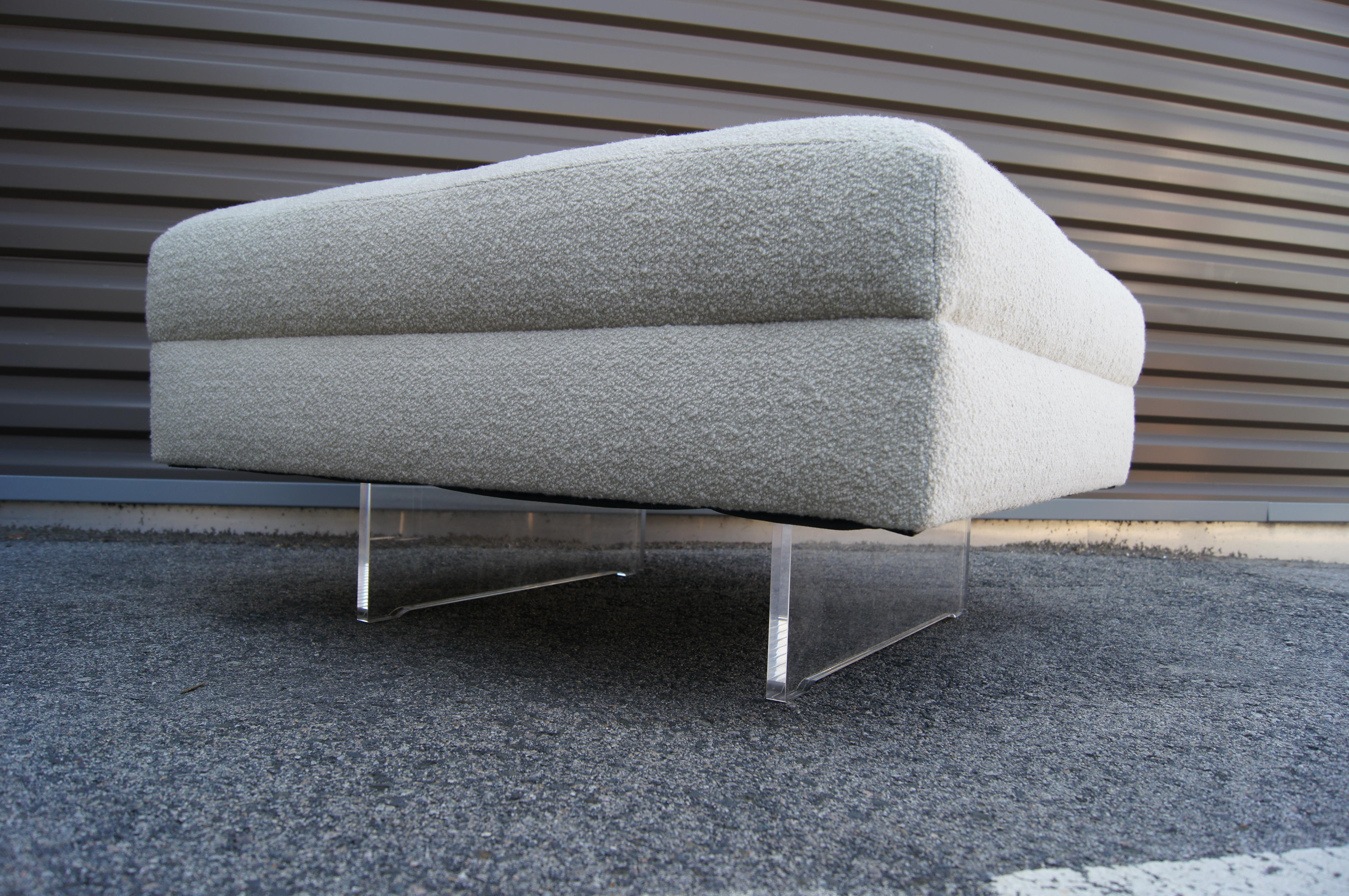 Miraculous Tufted Ottoman With Lucite Legs Creativecarmelina Interior Chair Design Creativecarmelinacom