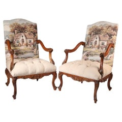 Tufted Traditional Armchair '2-Chair Set', 20th Century