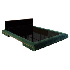 Tufted Velvet Upholstered Platform Bed Frame by VIDIVIXI
