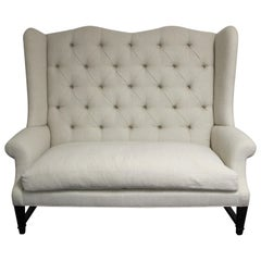 Tufted Wing Back Sofa