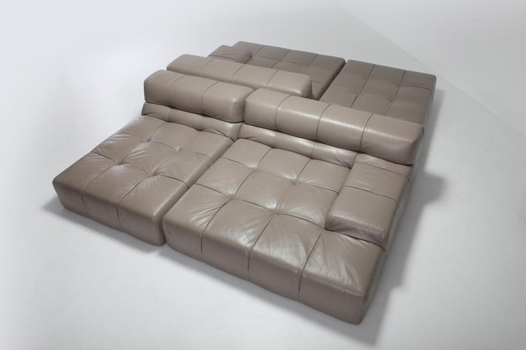 Tufty Time B&B Italia Taupe Leather Sectional Sofa by Patricia Urquiola For Sale 3