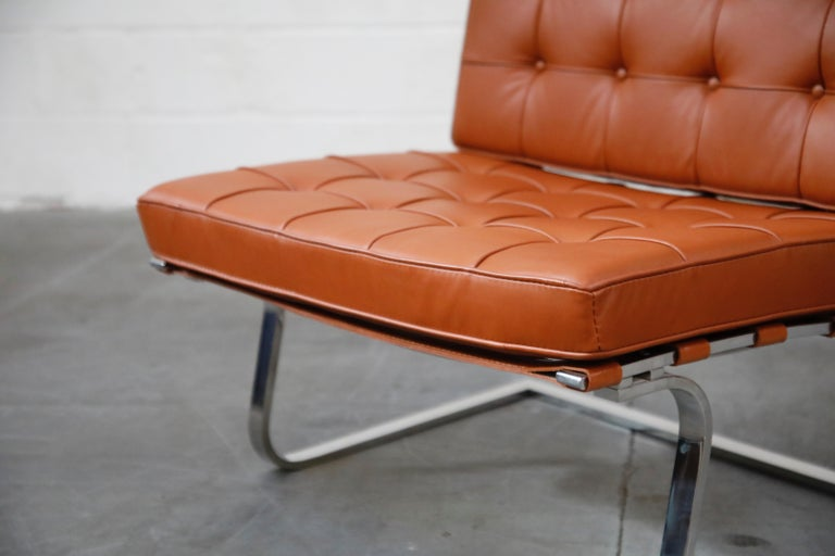Tugendhat Lounge Chair by Mies van der Rohe for Knoll Associates, 1960s, Signed For Sale 4