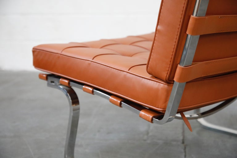 Tugendhat Lounge Chair by Mies van der Rohe for Knoll Associates, 1960s, Signed For Sale 8