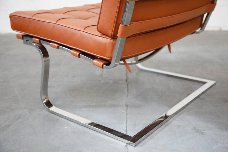 Tugendhat Lounge Chair by Mies van der Rohe for Knoll Associates, 1960s, Signed For Sale 9