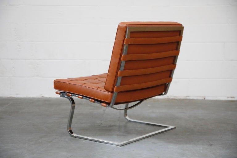 Tugendhat Lounge Chair by Mies van der Rohe for Knoll Associates, 1960s, Signed In Excellent Condition For Sale In Los Angeles, CA