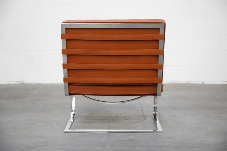 Mid-20th Century Tugendhat Lounge Chair by Mies van der Rohe for Knoll Associates, 1960s, Signed For Sale