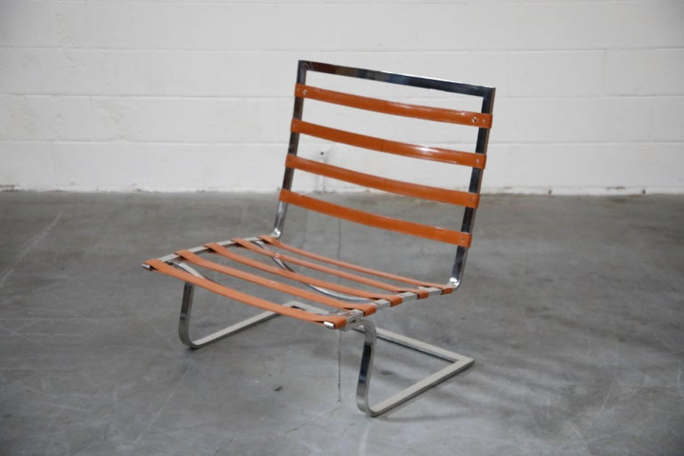 Tugendhat Lounge Chair by Mies van der Rohe for Knoll Associates, 1960s, Signed For Sale 1