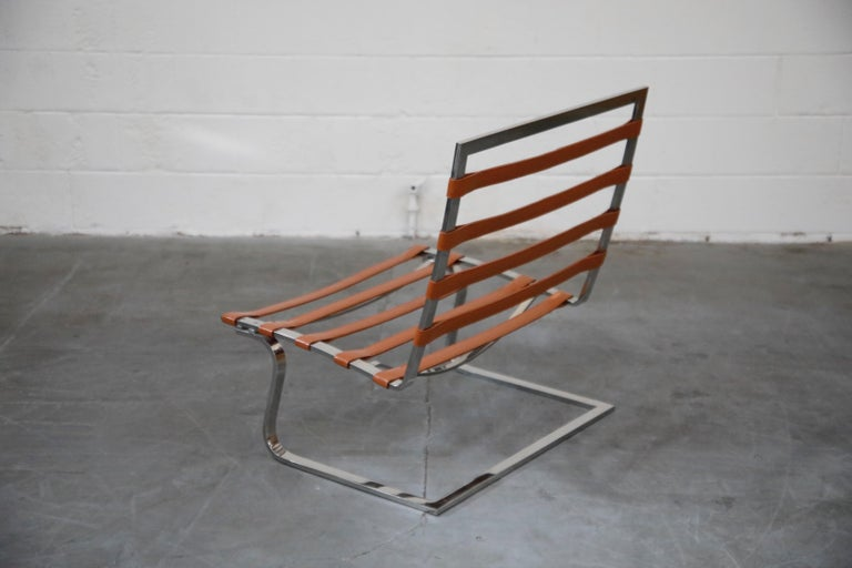 Tugendhat Lounge Chair by Mies van der Rohe for Knoll Associates, 1960s, Signed For Sale 2