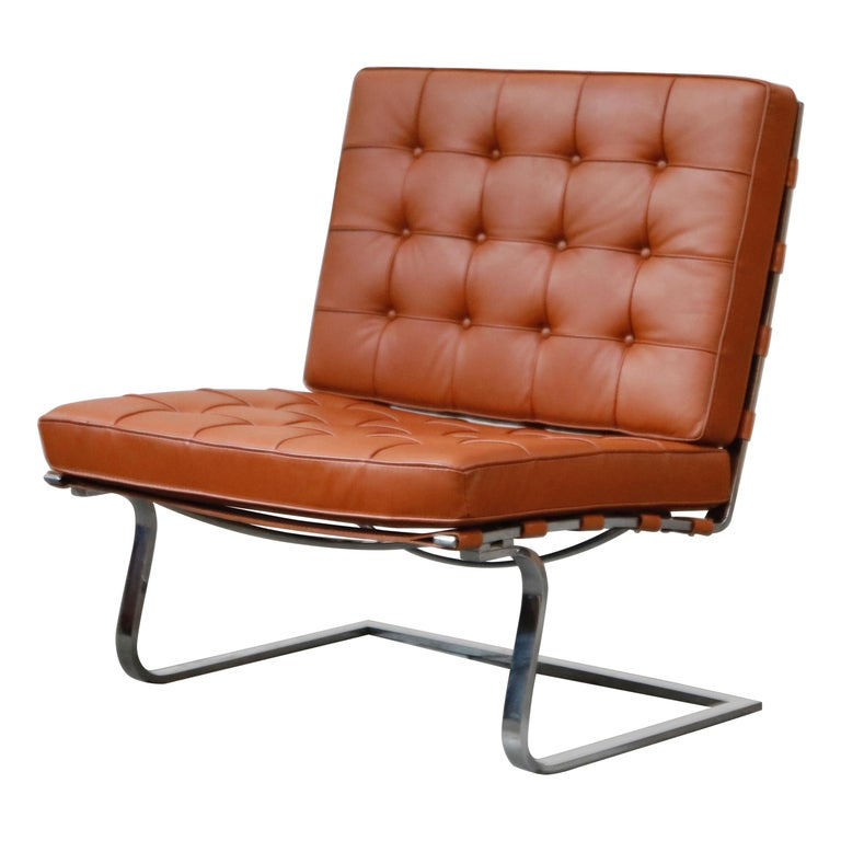 Tugendhat Lounge Chair by Mies van der Rohe for Knoll Associates, 1960s, Signed For Sale