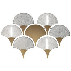 Tuileries 7374 Wall Sconce in Glass with Honey Bronze Finish, by Barovier&Toso