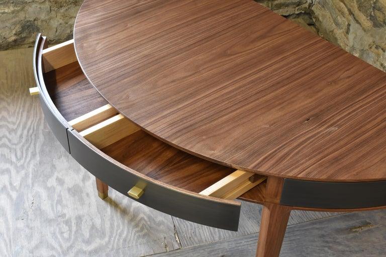 Modern Tulare Demilune Desk For Sale