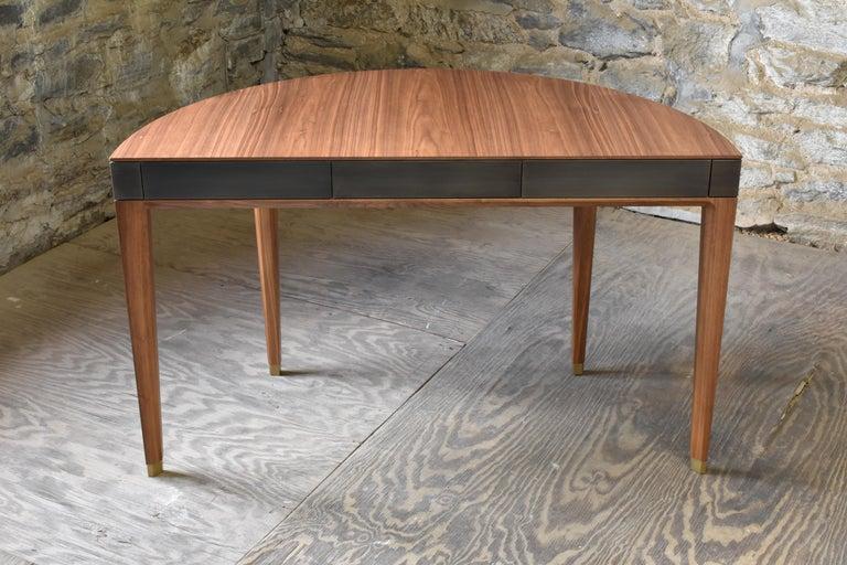 American Tulare Demilune Desk For Sale