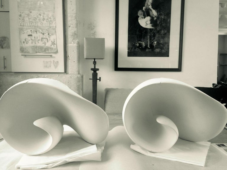 Tulip Contemporary Wall-Mounted Sculpture in White Plaster, Hannah Woodhouse For Sale 2
