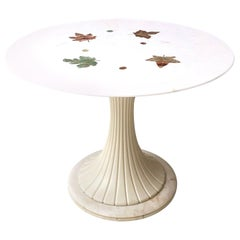 Tulip Dining Table by Osvaldo Borsani with a Portuguese Pink Marble Top, 1950s