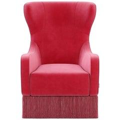 Tulpe-Fransen-Sessel im klassischen Stil, Französisch