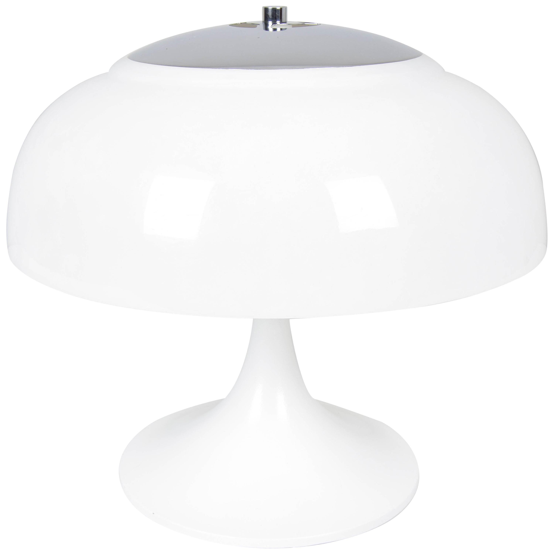 Tulip Mid-Century Modern White Mushroom Table Lamp from Tramo, Spain, 1960