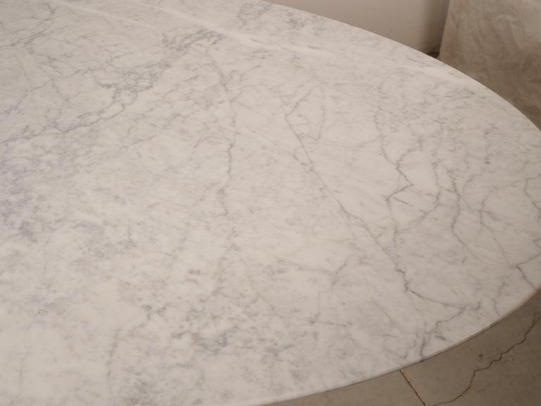 Tulip Oval Marble Dinning Table by Eero Saarinen for Knoll 1