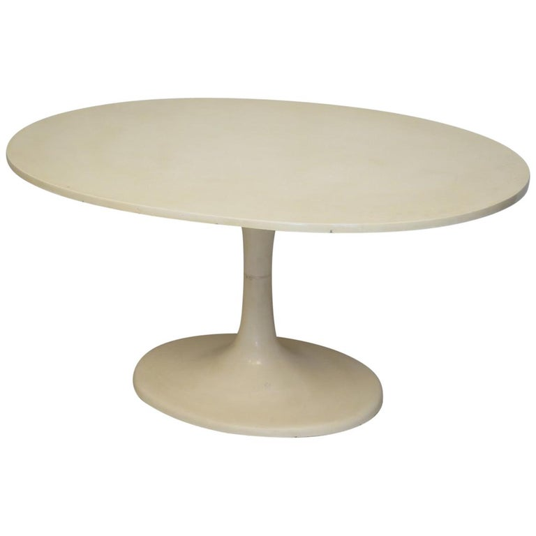 Tulip Oval Table, 1970 For Sale