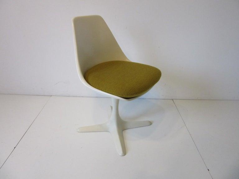 Mid-Century Modern Tulip Saarinen Styled Dining Chairs by Maurice Burke for Burke International
