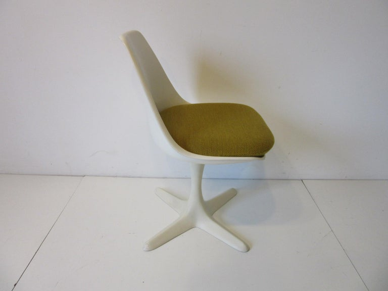 American Tulip Saarinen Styled Dining Chairs by Maurice Burke for Burke International