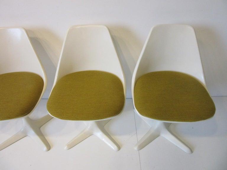 Fiberglass Tulip Saarinen Styled Dining Chairs by Maurice Burke for Burke International