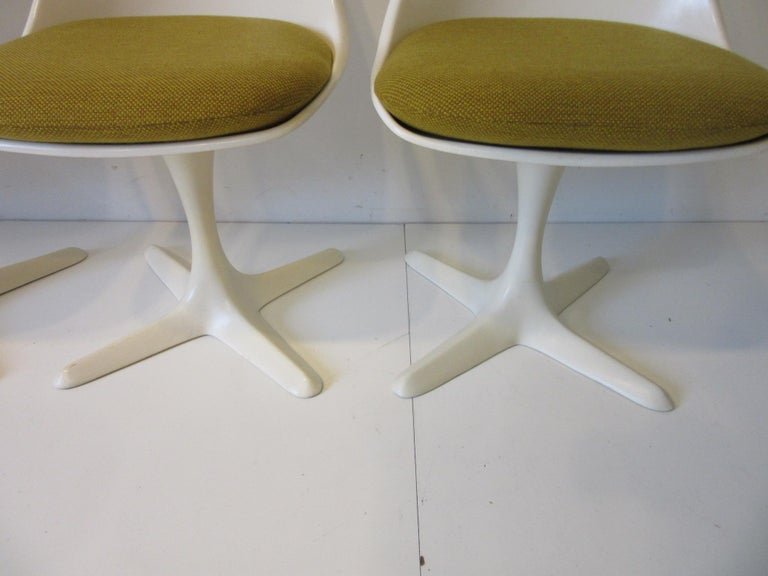 Tulip Saarinen Styled Dining Chairs by Maurice Burke for Burke International 1