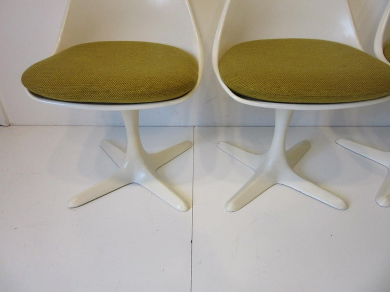 Tulip Saarinen Styled Dining Chairs by Maurice Burke for Burke International 2