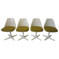 Tulip Saarinen Styled Dining Chairs by Maurice Burke for Burke International